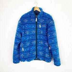 Patagonia Men's Retro X Cardigan Aztec Blue Large